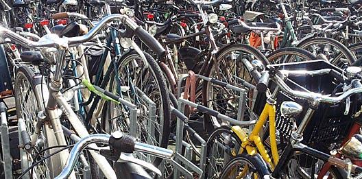 hoe ontstaat chaos in een fietsenstalling