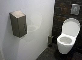 Figuur - Ook de afstand tot de WC-rol is belangrijk.