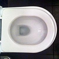 Figuur - Te kleine en losse WC bril