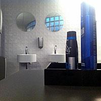 Figuur - Bij sommige WC's wordt hairspray of deodorant aangeboden.