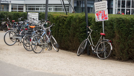 overzicht fietsenstalling ut waaier zilverling