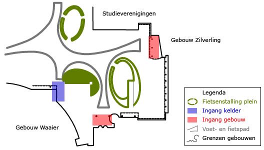 plattegrond fietsenstalling ut