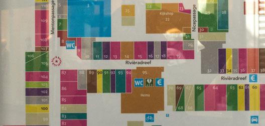 kaart gedraaid ten op zichte van kijkrichting