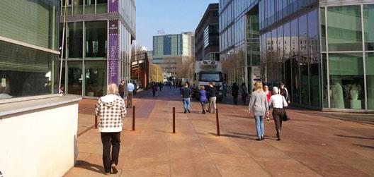 ontwerpen voor behoefte van voetganger